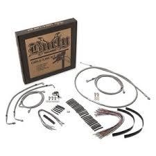 harley davidson trike parts accessories revzilla burly handlebar cable installation kit for harley