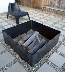 view in gallery diy square steel fire pit jpg