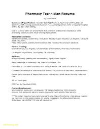 Pharmacy Technician Resume Templates Delectable Resume Sample For Pharmacy Technician New 48 Pharmacy Technician