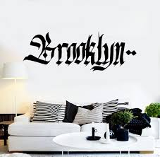 vinyl wall decal brooklyn graffiti word teen room new york