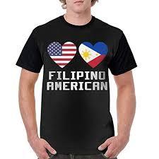Amazon Com Casual Filipino American Hearts Short Sleeve Men
