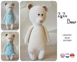 Crochet Bear Pattern Best Crochet Bear Pattern By ZyZu Line Design Teddy Bear Pattern Etsy
