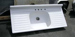white kitchen sink with drainboard. Enamel Kitchen Sink Chic Porcelain Sinks For Sold Antique White With Drainboard South B