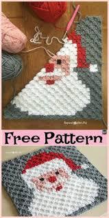 Crochet Santa Pixel Square Free Pattern Weihnachten