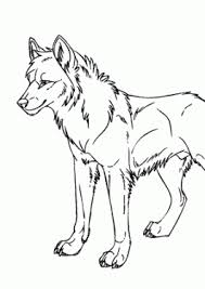 Wolf Wild Animals Coloring Pages For Kids Printable Free