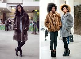 chair mens faux fur coats size 60 black