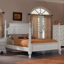 white four poster bed queen. Unique Four Laveno 012 White Wood Queen Poster Bed On Four