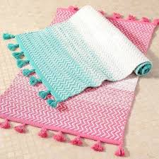 hot pink bathroom rugs teen sunrise to sunset bath mat bright pink at pottery barn teen hot pink bathroom rugs