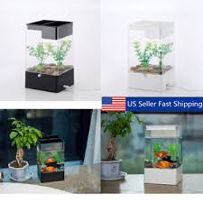 office desk aquarium. Exellent Aquarium Image Is Loading LEDLightSquareUSBInterfaceAquariumEcologicalOffice Throughout Office Desk Aquarium EBay