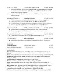 Engineering Technician Resume Mechanical Engineering Technician