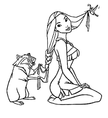 Small Picture Pocahontas Coloring Pages zimeonme