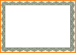 Certificate Border Template Free Simple Certificate Template Border Only Customcartoonbakery