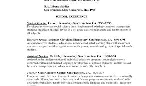 Early Childhood Education Resume Samples Download By Tablet Desktop