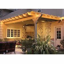 Patio Accent Lights Feit 48ft 14 6m Led Indoor Outdoor Waterproof String Lights Set Costco Uk