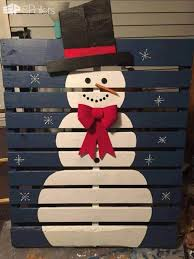 this is a super easy example of our pallet snowman ideas paint a pallet