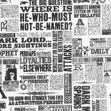 Harry Potter Newspaper Template Wizarding World Harry Potter Newsprint Yardage