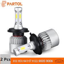 Partol <b>H4 H7 H11</b> H1 Car LED Headlight Bulbs 72W LED <b>9005</b> ...