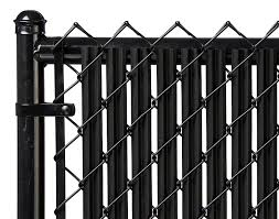 black chain link fence with privacy slats.  Link Amazoncom  4ft Black Ridged Slats For Chain Link Fence Garden U0026 Outdoor To With Privacy N