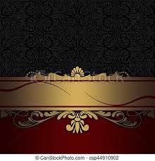 red and black vintage background. Beautiful And Decorative Background With Gold Border And Vintage Patterns  Csp44910902 And Red Black Vintage Background B