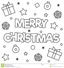 merry christmas coloring page.  Merry Download Merry Christmas Coloring Page Vector Illustration Stock   Illustration Of Text Intended Christmas Page