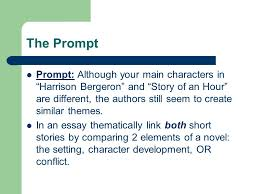 the prompt prompt although your main characters in ldquo harrison 1 the