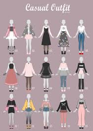 Design Clothes Anime Open 5 15 Casual Outfit Adopts 34 By Rosariy Anime