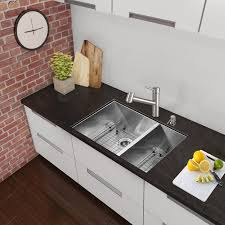 Kitchen  25 Stainless Steel Undermount Sink One Bowl Kitchen Sink 25 Inch Undermount Kitchen Sink