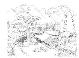 Coloring Pages Nature Cat Nature Coloring Nature Coloring Pages