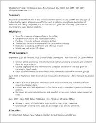 Resume Templates: Liaison Officer