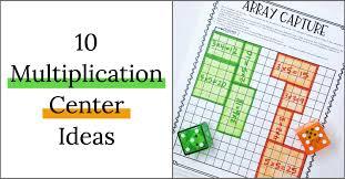 10 multiplication math center games