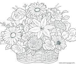 Flower Coloring Pages Printable Flower Coloring Pages Printable E