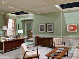 office interiors magazine. An Office With White Chairs, Wooden Desk And Coffee Table. Mint Walls. Tour Interiors Magazine Z
