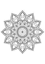 Mandala Livre Gratuit 9 Mandalas Coloriages Difficiles Pour