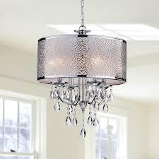 drum light chandelier. Crystal Chandelier Light Fixture Ceiling Pendant Modern Chrome Hanging Lamp Drum