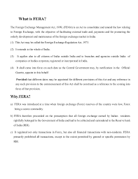 fera fema  what is fera the foreign exchange management act 1999