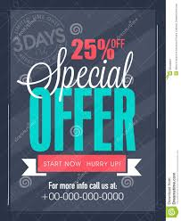 Special Offer Flyer Limited Time Sale Flyer Banner Or Template Stock