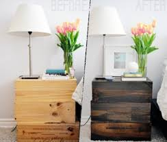 rustic wood furniture ideas. Wine Boxes Nightstand (via Shelterness) Rustic Wood Furniture Ideas O