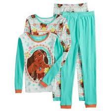 Details About Disney Princess Moana Nwt Size 6 8 Long Sleeve Pajamas 2 Pair 4 Piece Set