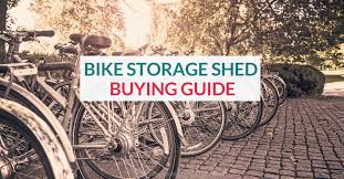 a bicycle storage shed is the ultimate outdoor bike storage solution for a small space
