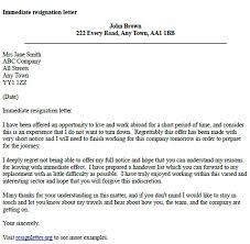 Immediate Resignation Under Fontanacountryinn Com