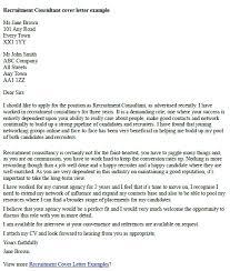 Recruitment Consultant Cover Letter Example Recruitment Consultant