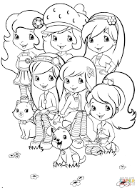 Small Picture Strawberry Shortcake and Friends coloring page Free Printable