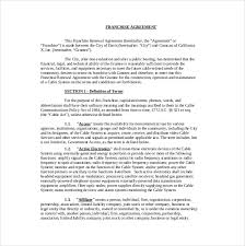 20+ Franchise Agreement Templates – Free Sample, Example, Format ...