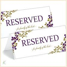Reserved Signs Templates Table Number Signs Cards Template Wedding Numbers Printable Spring