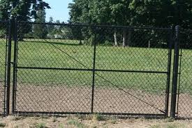 black chain link fence gate.  Fence Seattle Chain Link Fences To Black Fence Gate C