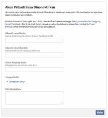Maybe you would like to learn more about one of these? Sebab Akun Facebook Dinonaktifkan Solusinya Hanya Lewat
