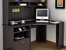 long black desk with hutch
