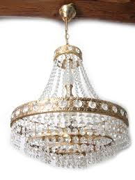 Kristalllüster Kronleuchter Aus Schweden Antik Messing