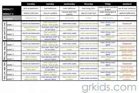 Cleaning Schedule Template For Care Homes Printable