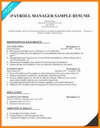 Payroll Manager Resume Sample 8 Payroll Manager Resume Technician Salary Slip